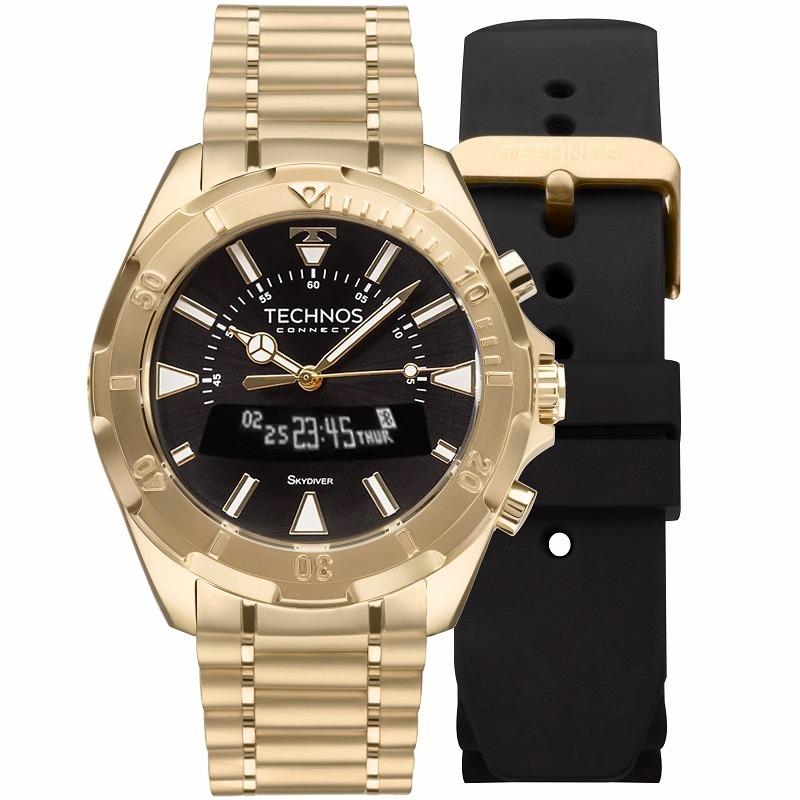 babf699326b29 Relógio Technos Masculino Connect Scab 4p Dourado Smartwatch - R  948