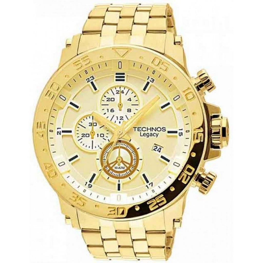 171ed8303eb relógio technos masculino cronógrafo dourado js15ao 4x. Carregando zoom.