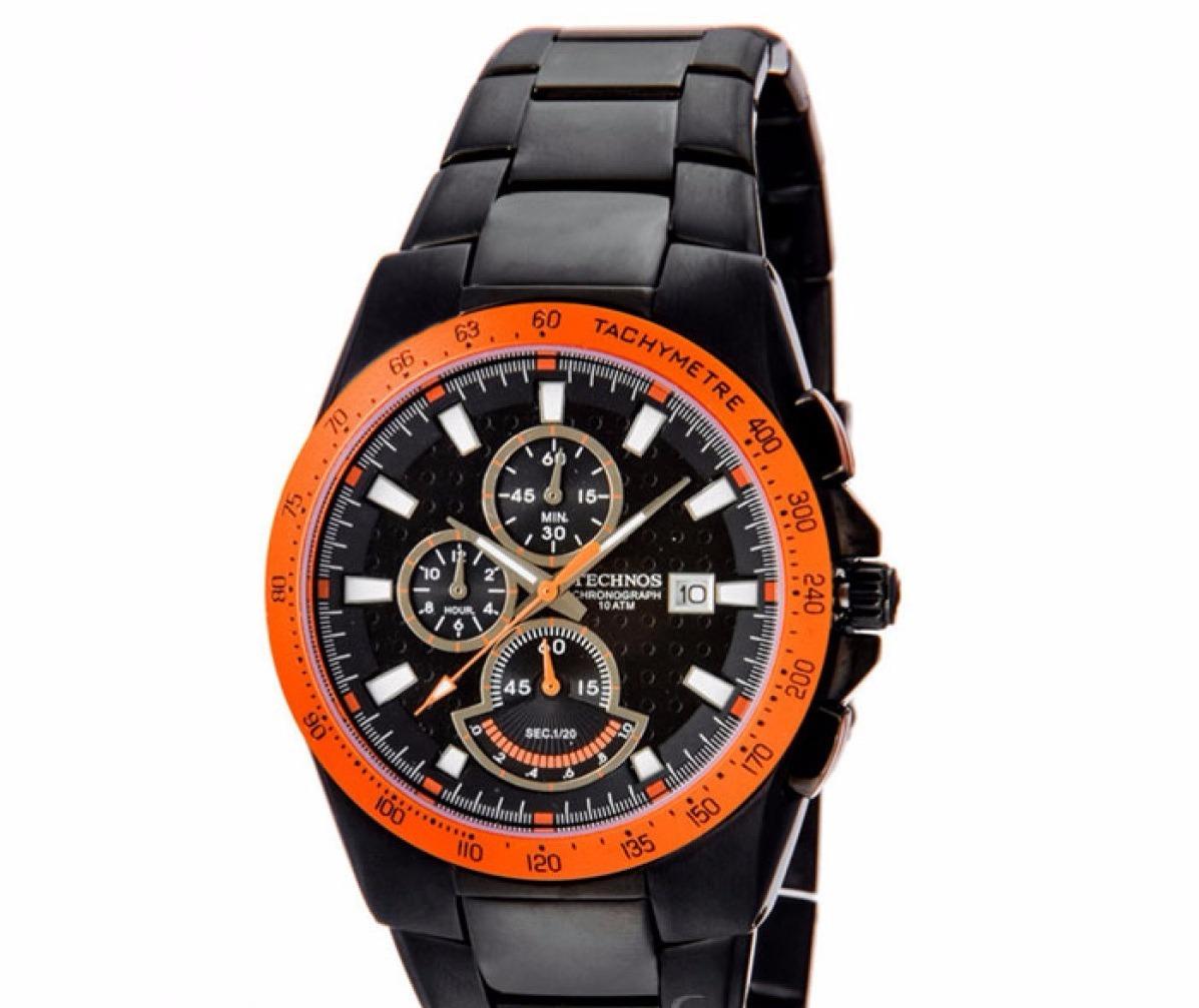 6645dfd8ae2 relógio technos masculino cronografo os62aa 1p preto. Carregando zoom.