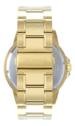 relógio technos masculino dourado - 2117lcg/4p novo