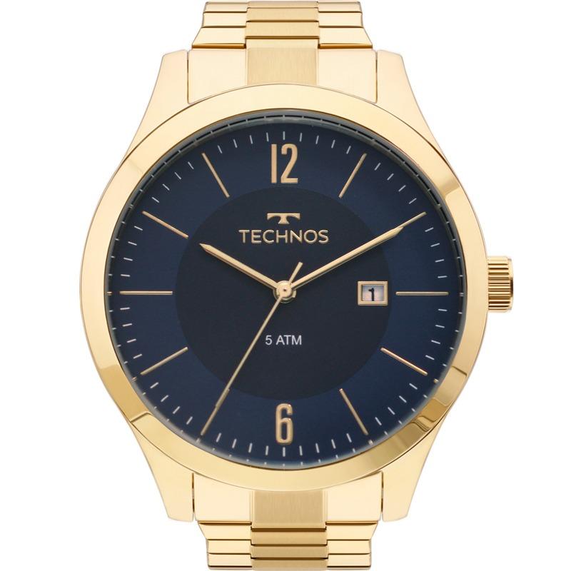 1f1fef9c9d9 relógio technos masculino dourado preto original 2115mos 4a. Carregando zoom .