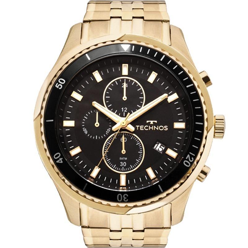 4f5eb36102a relógio technos masculino dourado preto original js15fe 4p. Carregando zoom.