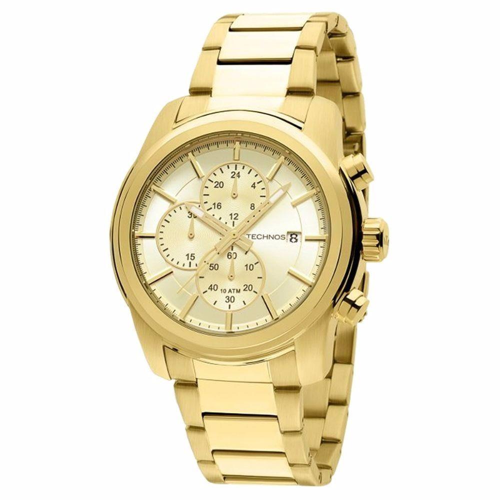 73501550d53 relógio technos masculino dourado super promoção js15at 4x. Carregando zoom.
