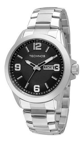 relógio technos masculino golf 2305an/1p prata original