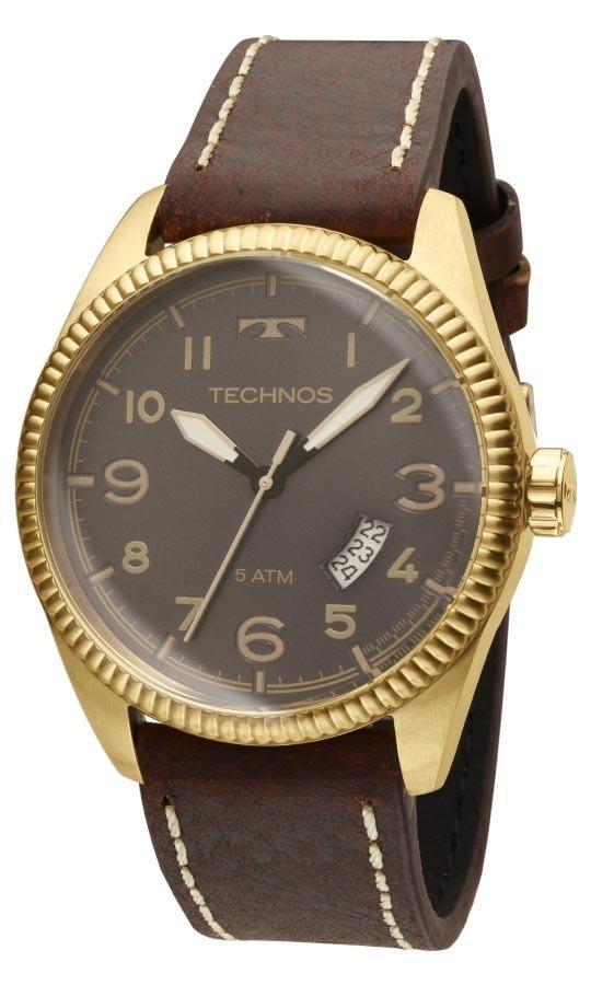 1c12b6c4687 relógio technos masculino golf 2315acg 2p dourado couro. Carregando zoom.