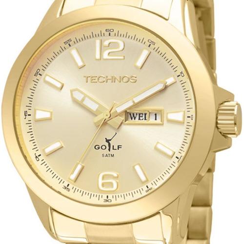 relógio technos masculino golf mod 2105au/4x - original