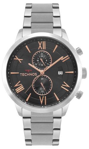relógio technos masculino jp11ab/1p original c/ nota fiscal