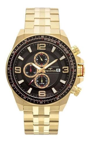 relógio technos masculino js15fc/4p skymaster cronógrafo