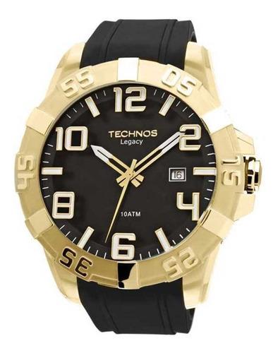 relógio technos masculino legacy 2315aaha/8p dourado oferta