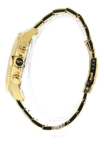 relógio technos masculino legacy dourado os20ib/4x promoção