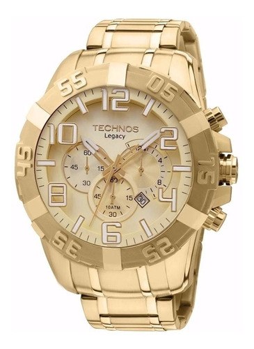 relógio technos masculino legacy dourado os20ik/4x