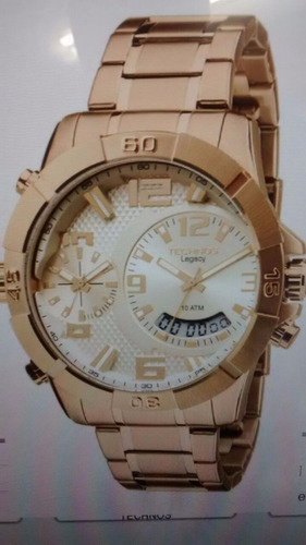 relógio technos masculino legacy dual time t205fi/4x