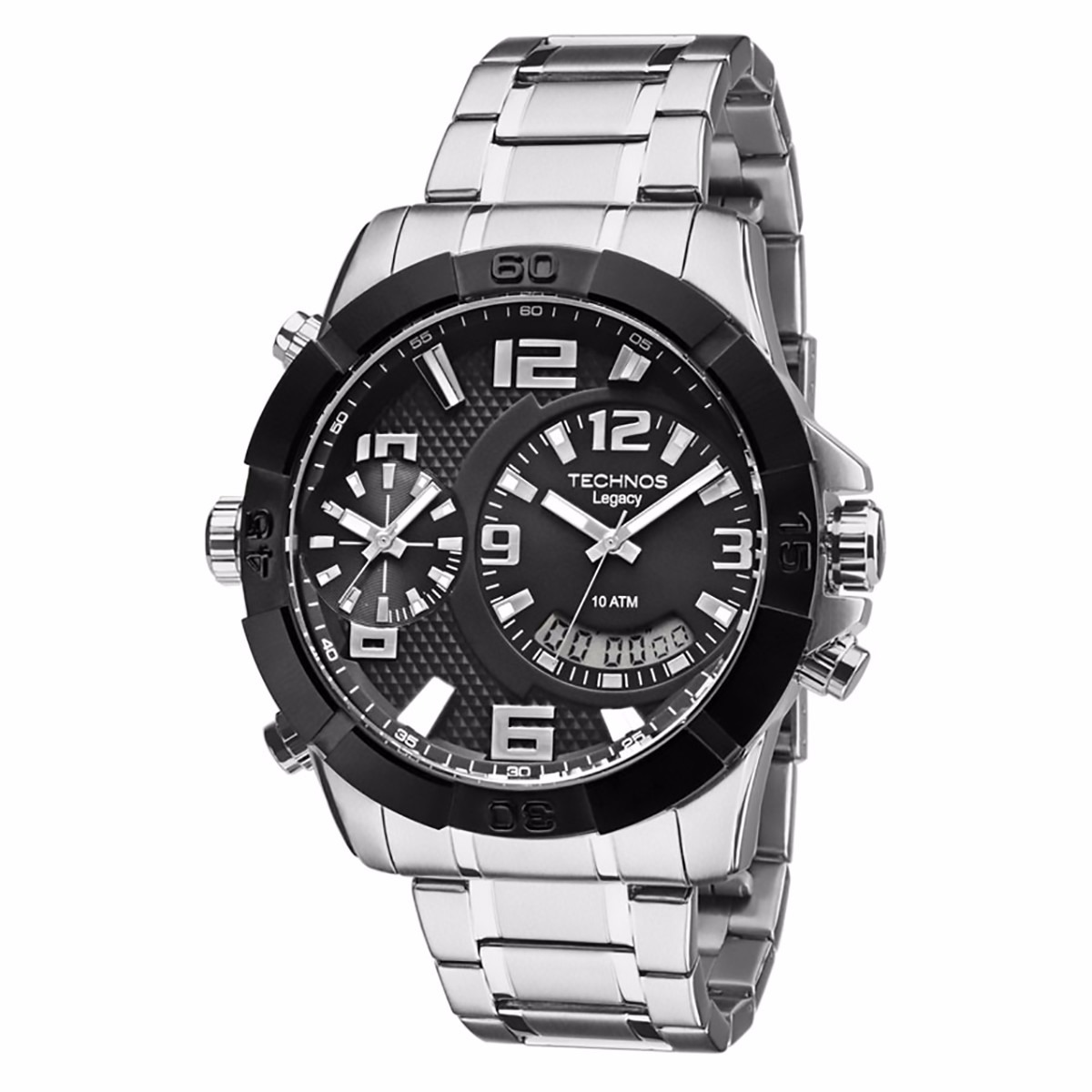 b04ad0345ca Relógio Technos Masculino Legacy Dual Time T205fk 3p - R  579