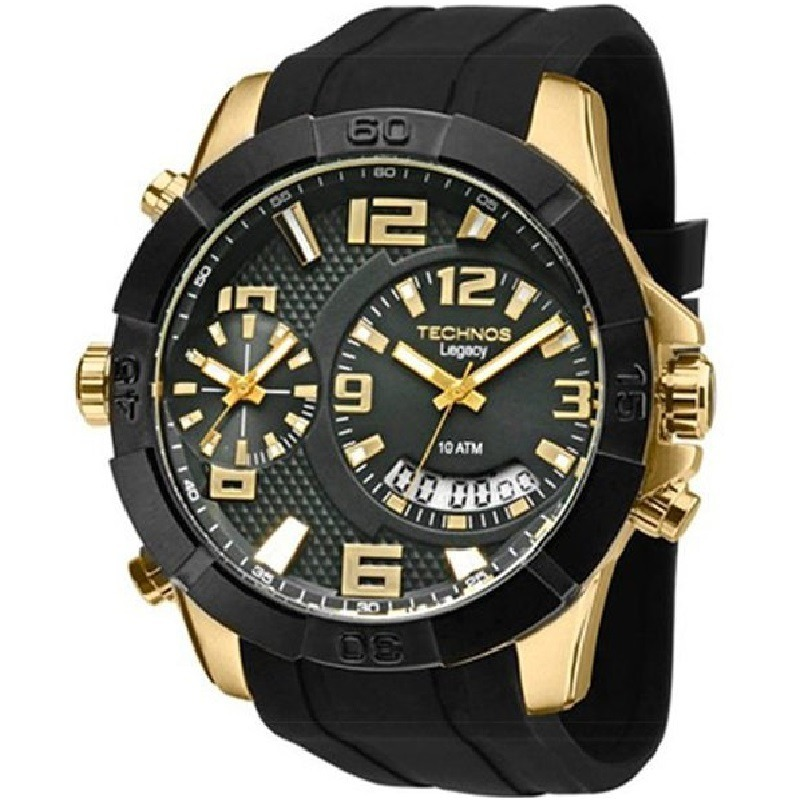 3cdc5db281c relógio technos masculino legacy extra gde t205fj 8p c  nfe. Carregando zoom .