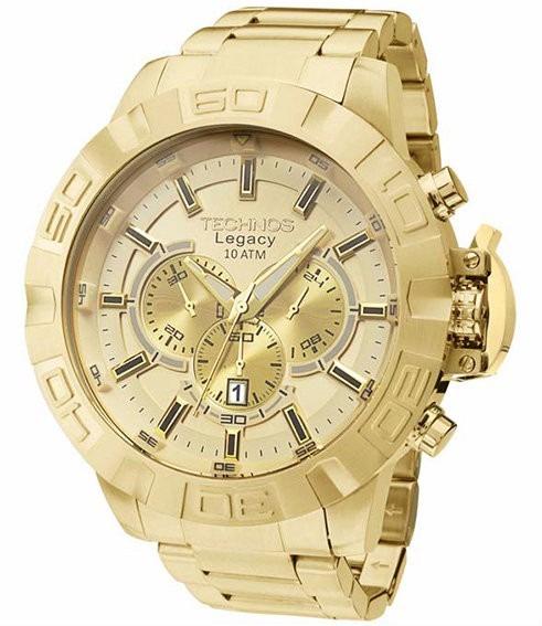 98eff0d466c Relógio Technos Masculino Legacy Js25ba 4x Dourado Grande - R  758 ...
