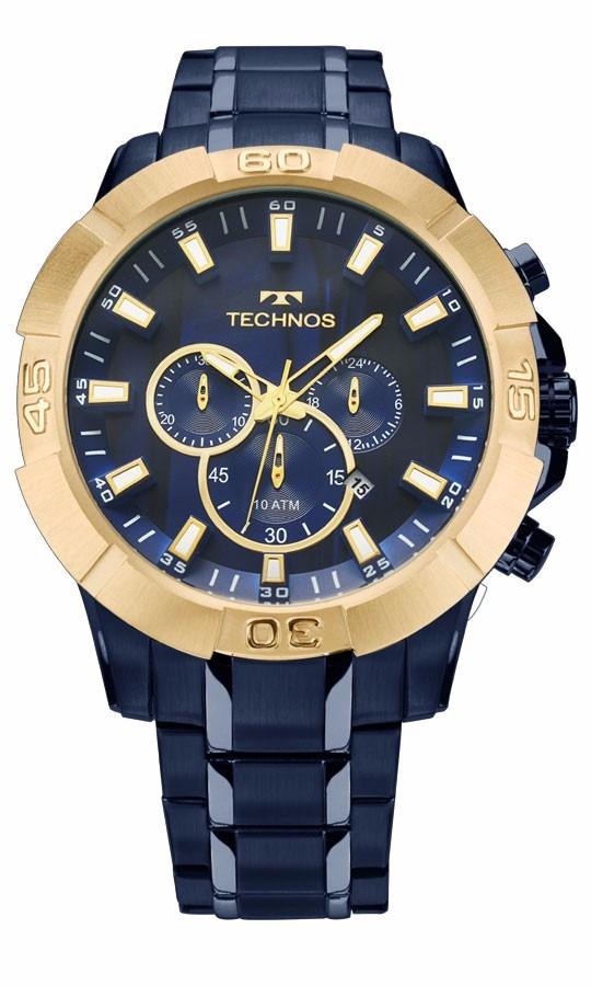 4a1dcafc843 relógio technos masculino legacy js26af 4a azul dourado. Carregando zoom.