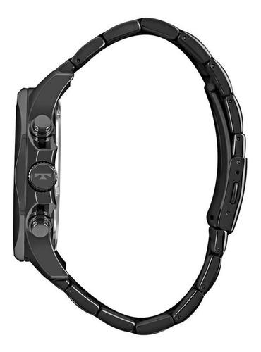 relógio technos masculino legacy js26al/4p cronógrafo preto