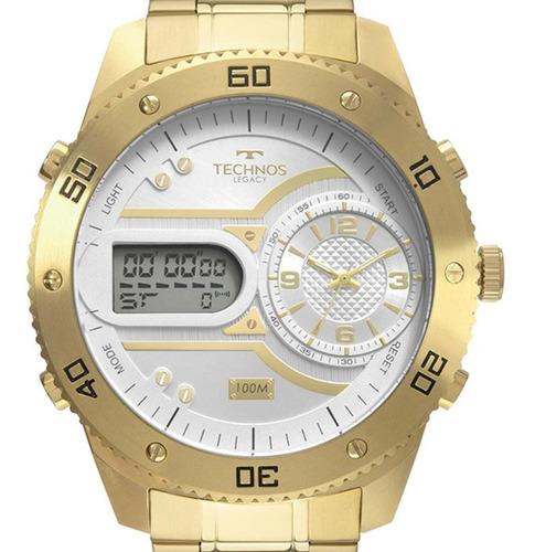 relógio technos masculino legacy original  2039cb/4x + nota