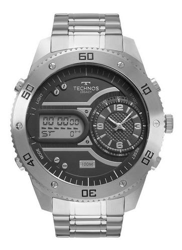 relógio technos masculino legacy prateado 2039cc/4p c/ nf-e