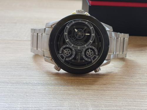 relógio technos masculino legacy prateado / preto