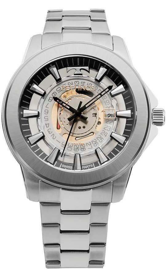 1ad39458b3c relógio technos masculino legacy suiço f06111ab 1w prata. Carregando zoom.
