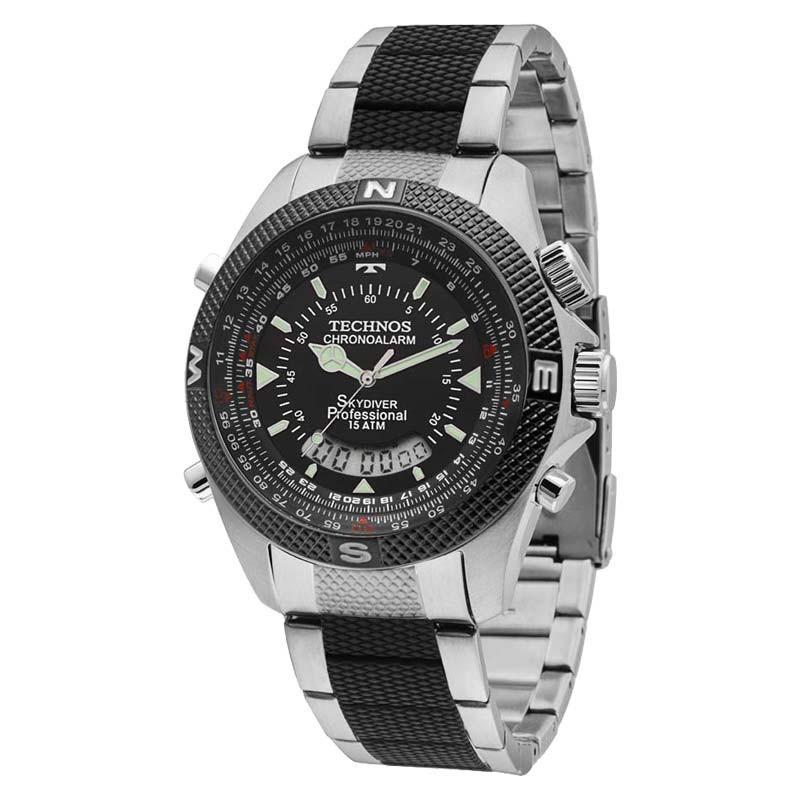 Relógio Technos Masculino Performance Skydiver T205ff 1p - R  551,91 em  Mercado Livre 40024bec3d