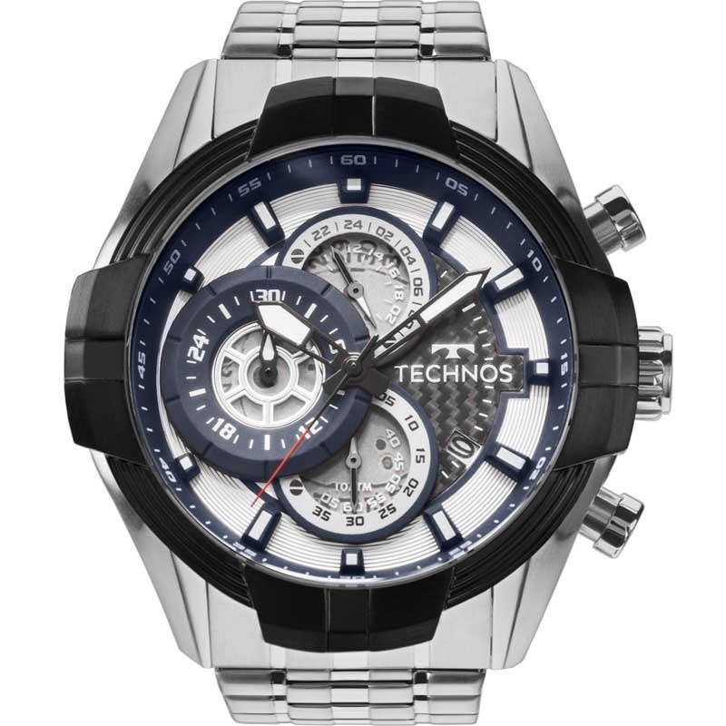 88c416ce7a849 relógio technos masculino prata e preto esportivo js15ev 1p. Carregando  zoom.