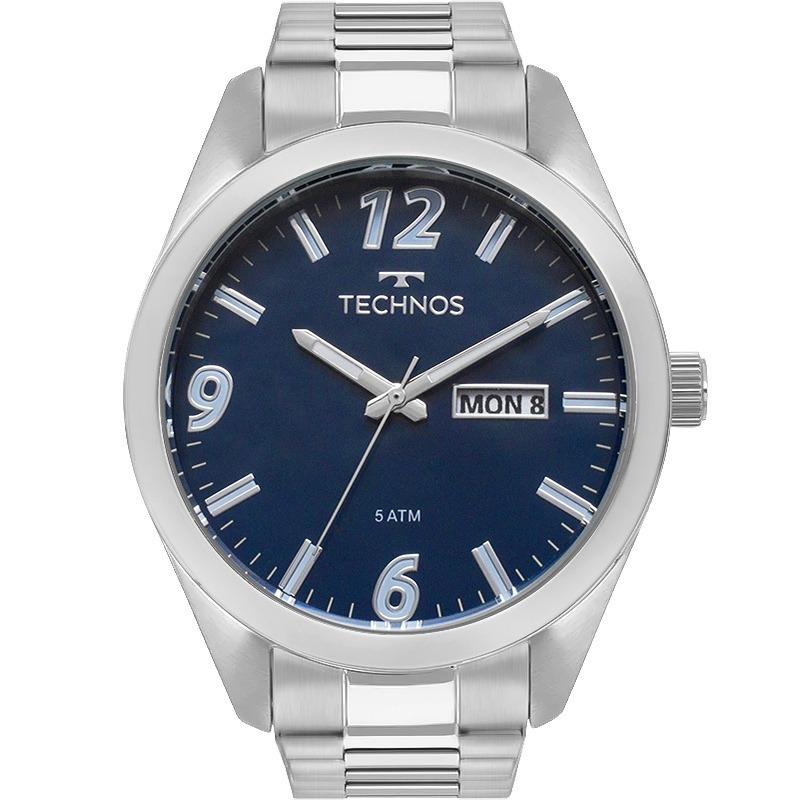 f91d06f55950e relógio technos masculino prata original 2305au 1a barato. Carregando zoom.