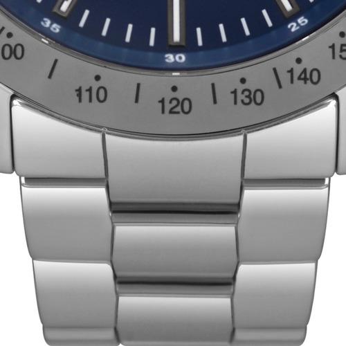 relógio technos masculino prata safira original js25bt/4a