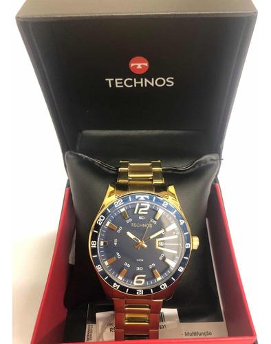 relógio technos masculino prateado 2115laj/4a