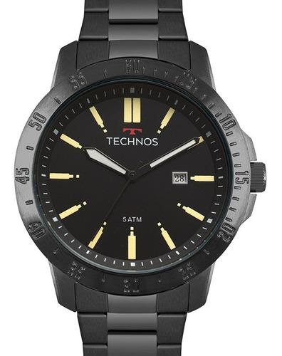 relógio technos masculino preto racer
