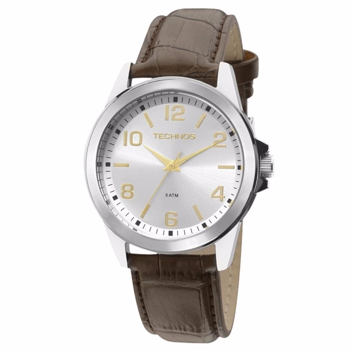 f731fb8f3fa relógio technos masculino pulseira de couro 2035mdg oferta. Carregando zoom.
