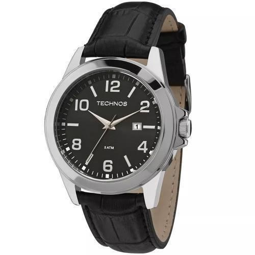097e4210fda Relógio Technos Masculino Pulseira De Couro E Aço Inoxidável - R ...