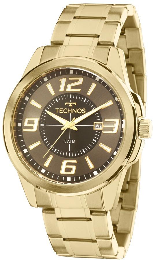 3ef2741f53eca Relógio Technos Masculino Racer 2115laa 4c Dourado Analogico - R  318,90 em  Mercado Livre