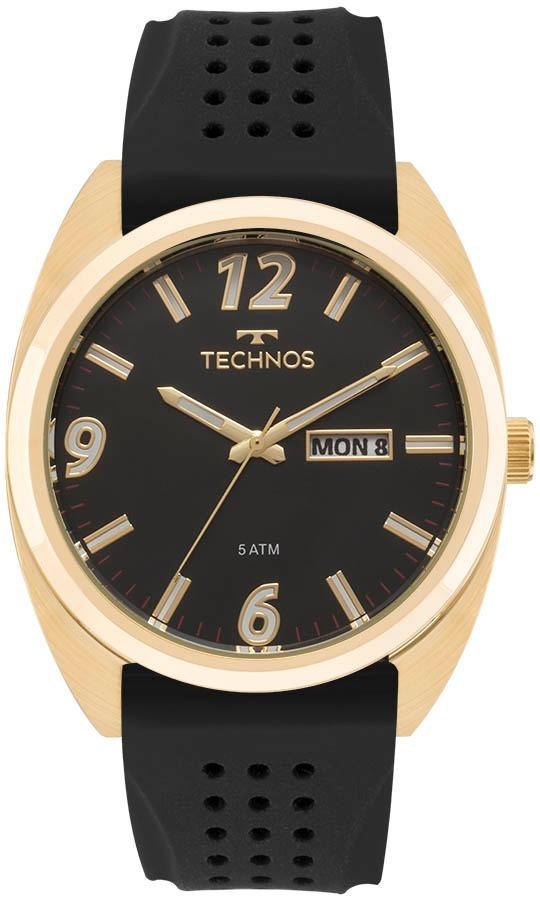 24f284ec88079 Relógio Technos Masculino Racer 2305at 8p Aço Dourado - R  278,90 em ...