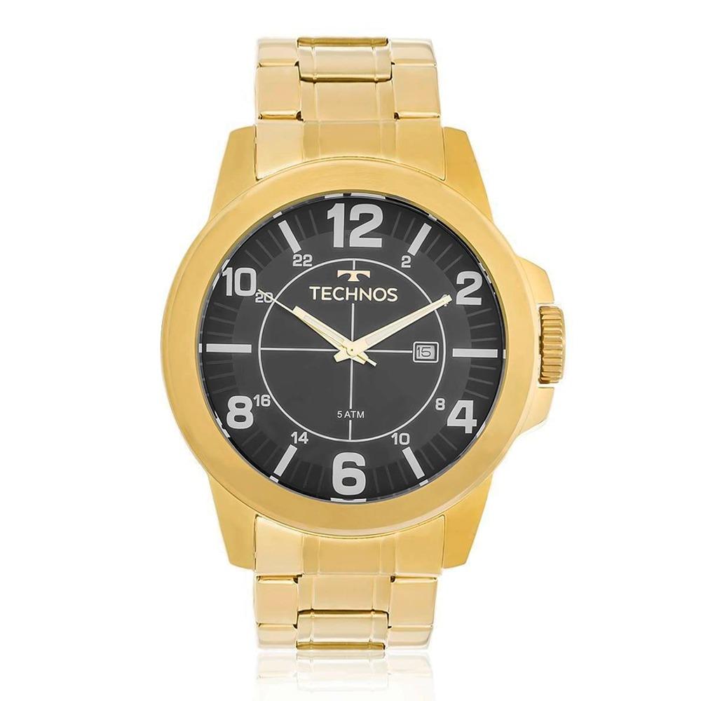 a23e1d143216c Relógio Technos Masculino Racer Dourado 2115mgs4a - R  279,90 em ...