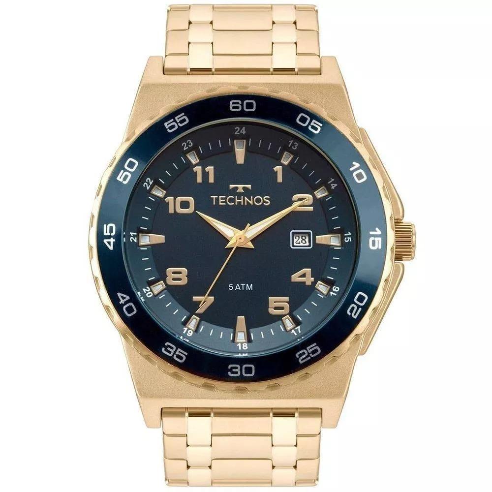 d829b0fbf2bd1 relógio technos masculino racer dourado 2115mql 4a. Carregando zoom.