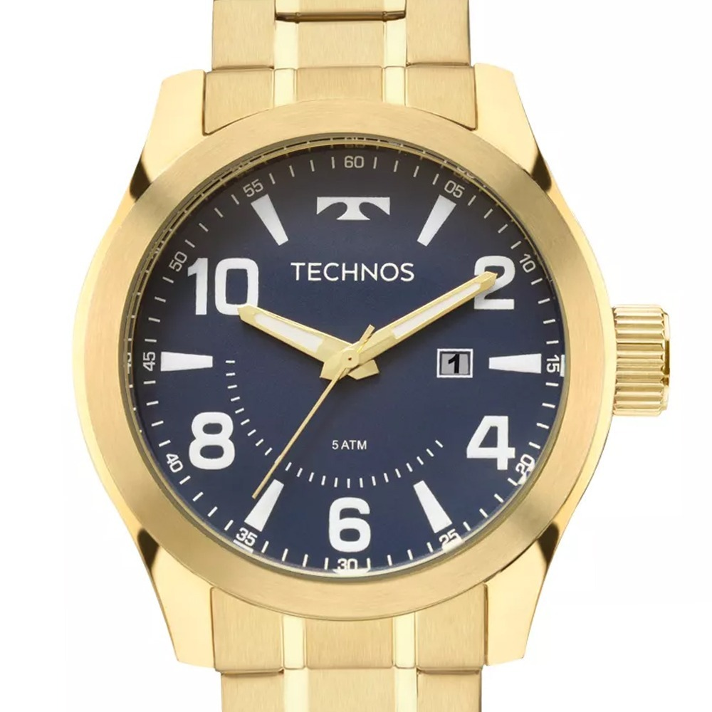 26699493c9739 relógio technos masculino racer dourado robusto 2115mgq 4a. Carregando zoom.