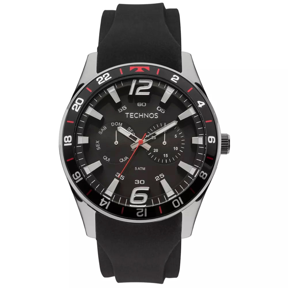 96470cb4dc3d4 relógio technos masculino racer preto 6p25bn8p. Carregando zoom.