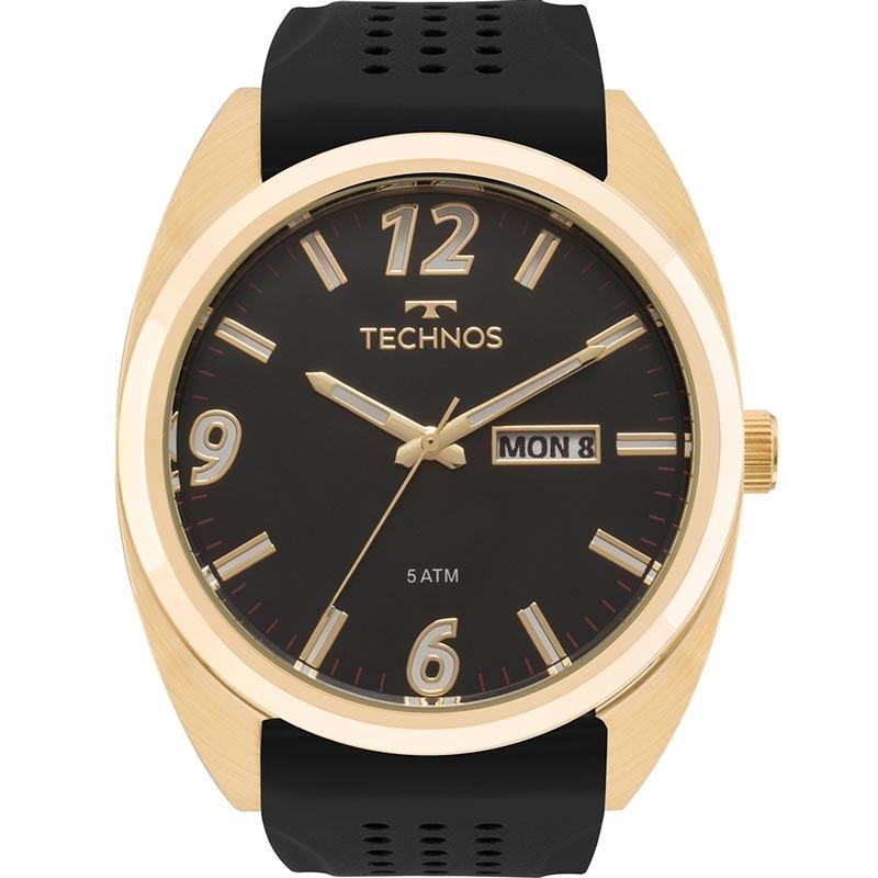 346c89e0d38 relógio technos masculino racer preto dourado nfe 2305at 8p. Carregando  zoom.