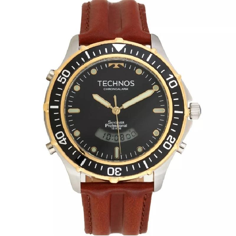 3e6683c61a1ce relógio technos masculino skydiver anadigi t205ix 0p c  nfe. Carregando  zoom.