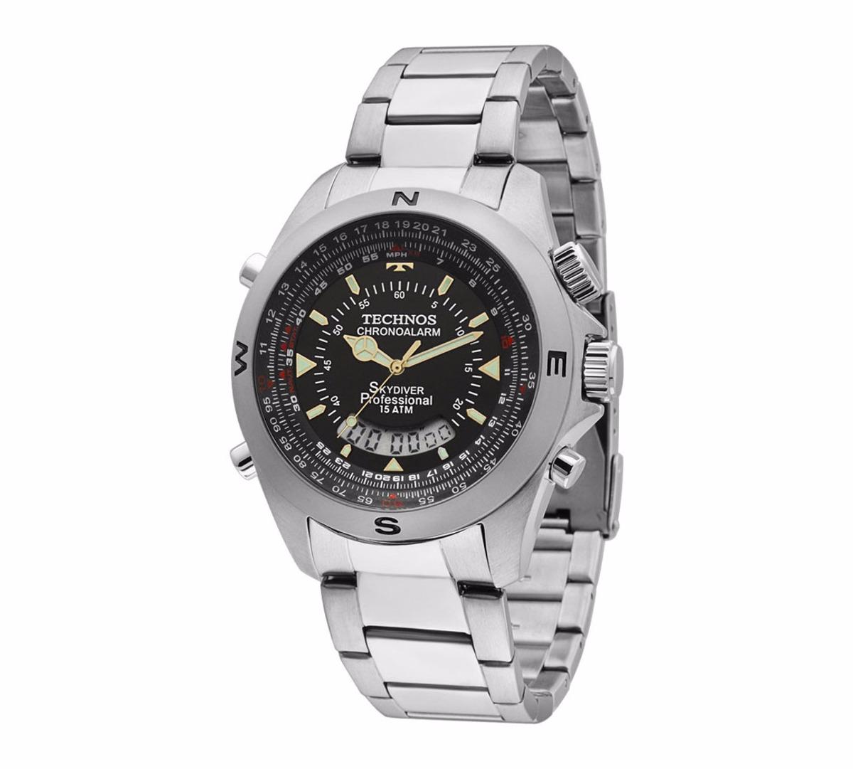 Relógio Technos Masculino Skydiver Pilot T20565 1p Anadigi - R  529,90 em  Mercado Livre 669d7ae590