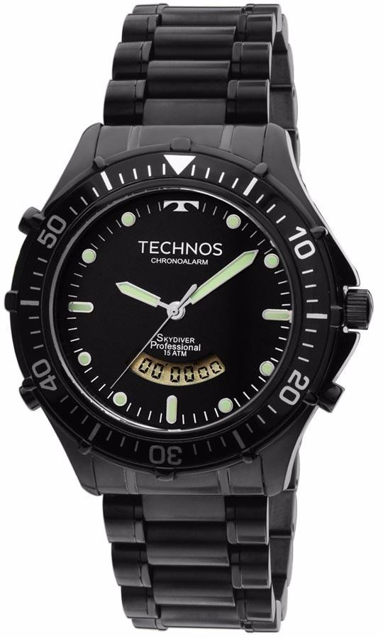 879c9d35da874 Relógio Technos Masculino Skydiver T205iy 4p Anadigi Preto - R  698,90 em  Mercado Livre
