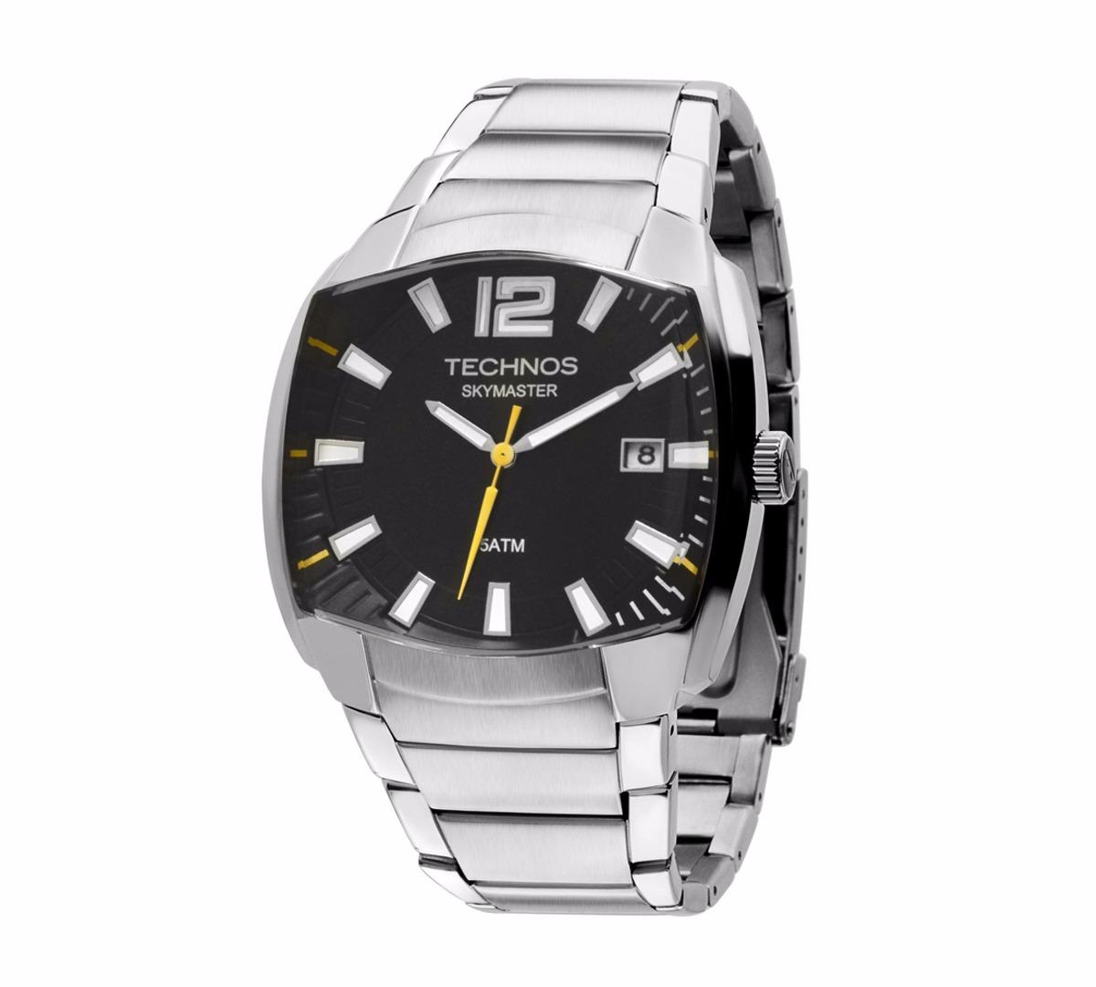 Relógio Technos Masculino Skymaster 2415bx 1p Aço - R  449,00 em Mercado  Livre fd7040617e