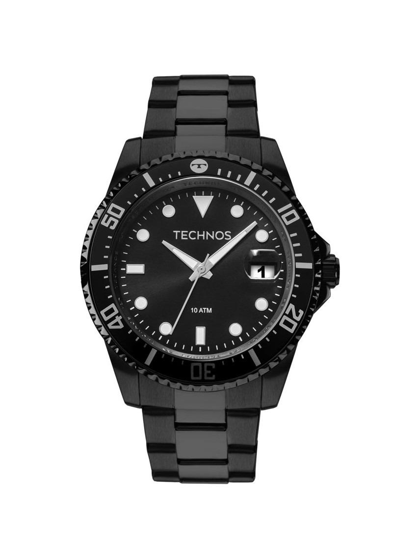 bc6b2b16986 relógio technos masculino skymaster 2415cl 4p aço preto. Carregando zoom.