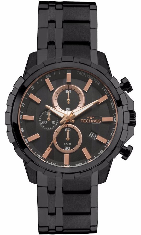 Relógio Technos Masculino Skymaster Js15fb 4p Preto Rose - R  638,09 em  Mercado Livre 57ac66b699