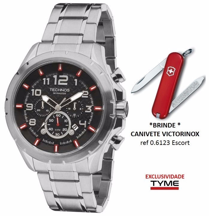 Relógio Technos Masculino Skymaster Js25bh 1p + Brinde C  Nf - R  499,90 em  Mercado Livre 635d248125