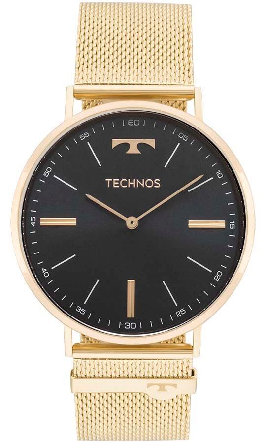 2a0eb82fb2d98 Relógio Technos Masculino Slim 2025ltj 4p Dourado Esteira - R  599 ...