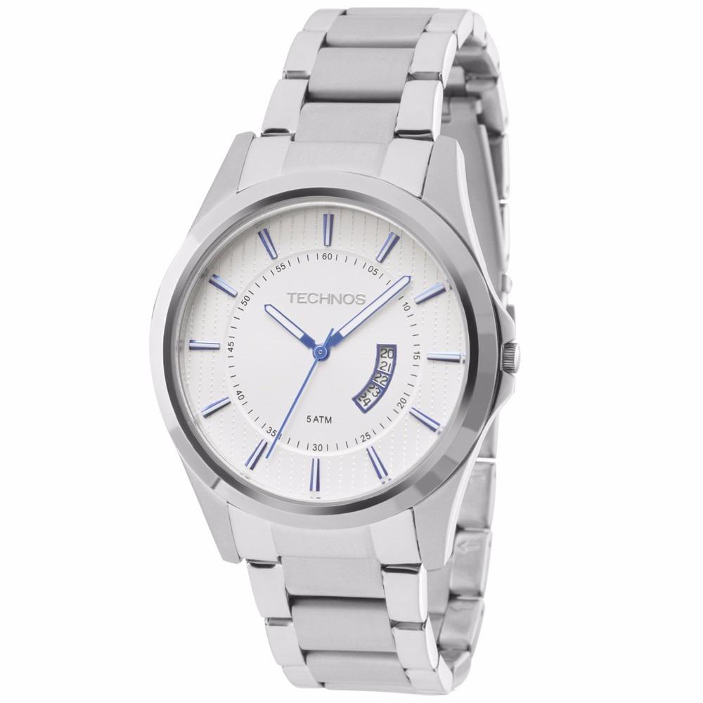 Relógio Technos Masculino Slim Gn10aq 1b Prata Aço - R  399,90 em ... d7e63db8e9