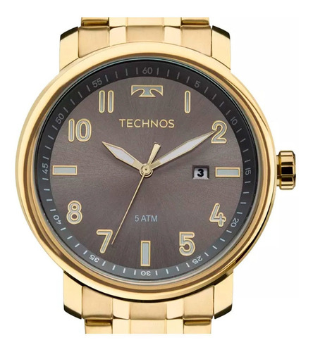 relógio technos masculino steel 2115mng/4c